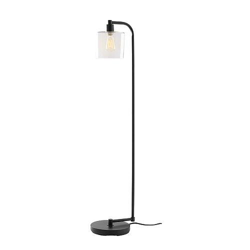 1-lumière avec lampe de plancher en verre clair