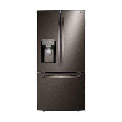 Réfrigérateur à porte française de 33 po de largeur et 24,5 pi3 avec distributeur d'eau et de glaçons en acier inoxydable noir résistant aux taches - ENERGY STAR® (en anglais seulement)