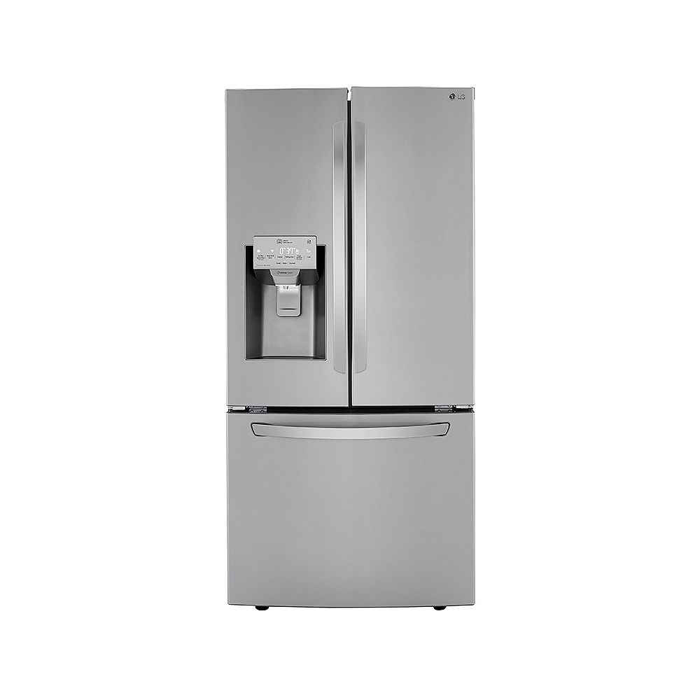LG Electronics 33-inch W 24.5 cu. ft. French Door Refrigerator with Water & Ice Dispenser in Smudge Resistant Stainless Steel