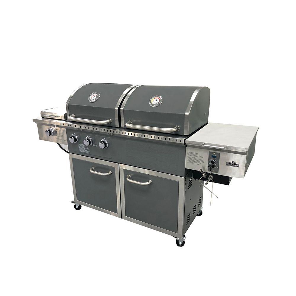RiverGrille Pellet Hybrid Grill in Grey