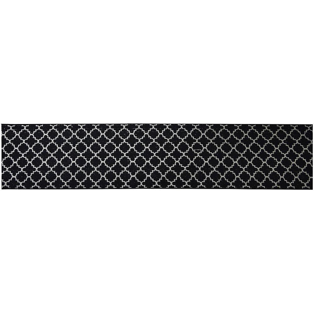 Lanart Rug Decorative Black 28.5-inch x 100 ft. Indoor Runner