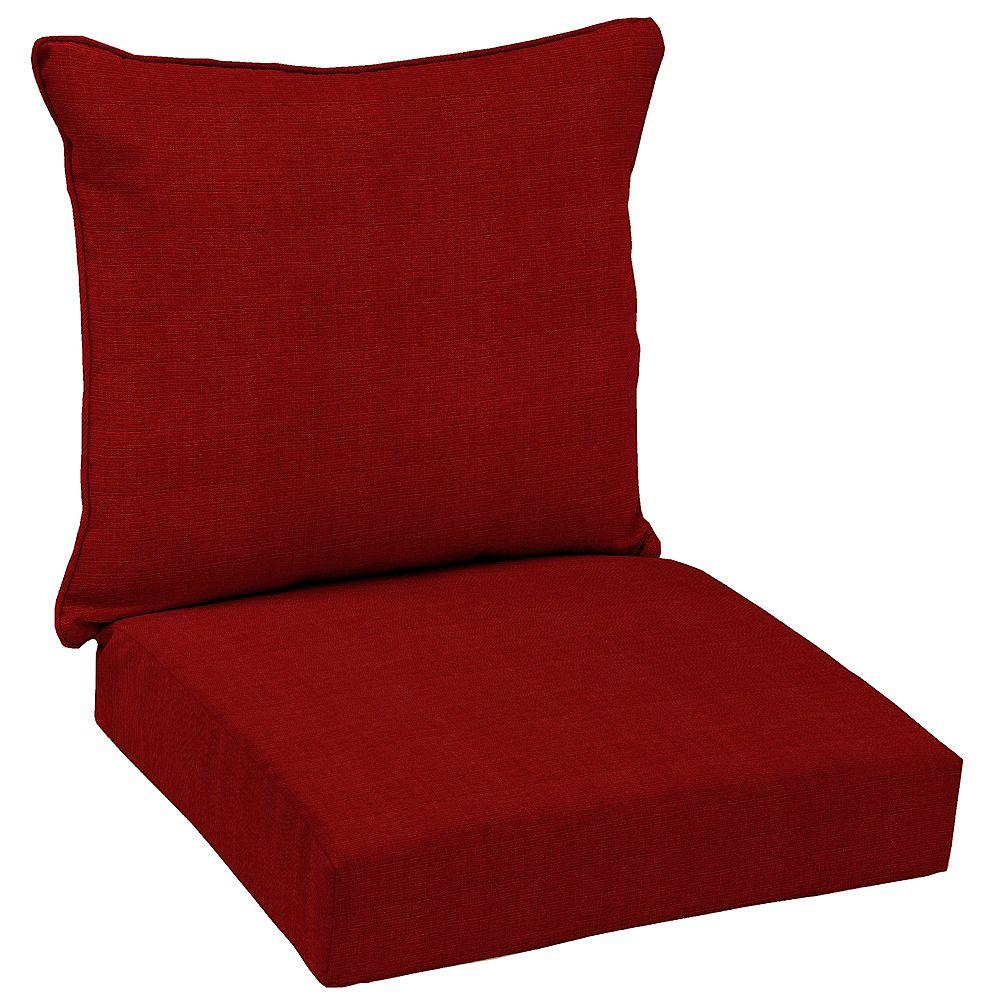 Hampton Bay CushionGuard Chili Outdoor 2-Piece Deep Seating Lounge Chair Cushion