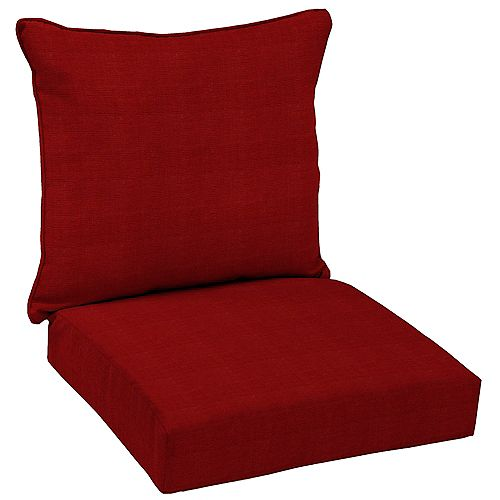 CushionGuard Chili Outdoor 2-Piece Deep Seating Lounge Chair Cushion