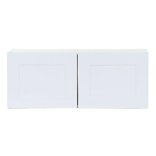 Edson 30 pouces W x 12 pouces H x 12,5 pouces D Shaker Style Assemblé Armoire murale de cuisine / Armoire en blanc massif (W3012)