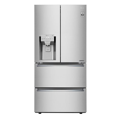 LG Electronics 33-inch W 18.3 cu. ft. French Door Refrigerator with 2 Freezer Drawers in Smudge Resistant Stainless Steel - ENERGY STAR®