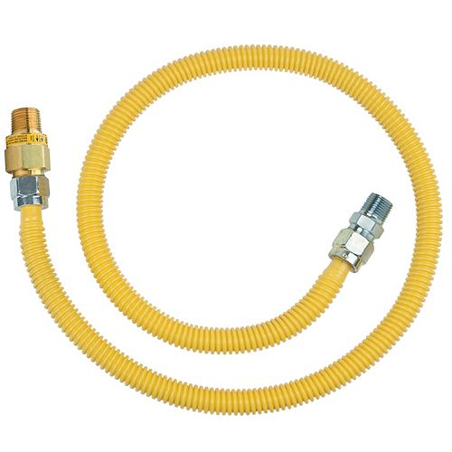 48-inch Gas Connector Kit (5/8-inch O.D.) with Safety+Plus2 Thermal Excess Flow Valve (106,000 BTU)