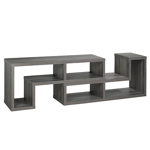Multiple Configuration 66' TV Stand, Grey