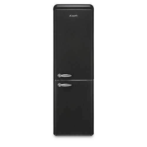 Réfrigérateur rétro Epic, homologué ENERGY STAR, 11 pi3, noir mat