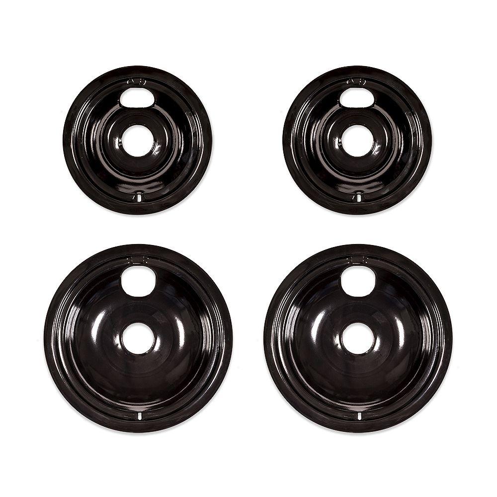 Everbilt Black Porcelain Drip Bowl for GE Electric Ranges (4-Pack)