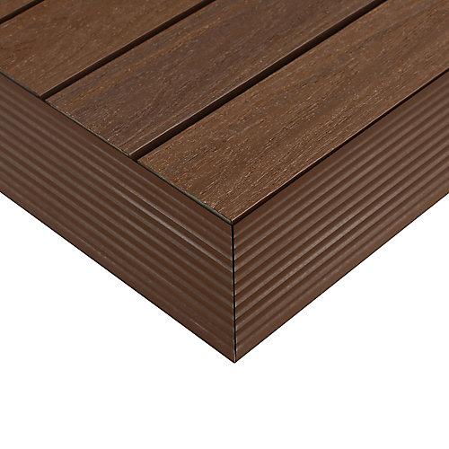 1/6pi x 1pi Carreau de terrasse en composite Quick Deck Moulure D'angle Extérieure en Ipe Brésilien (2pcs/boîte)