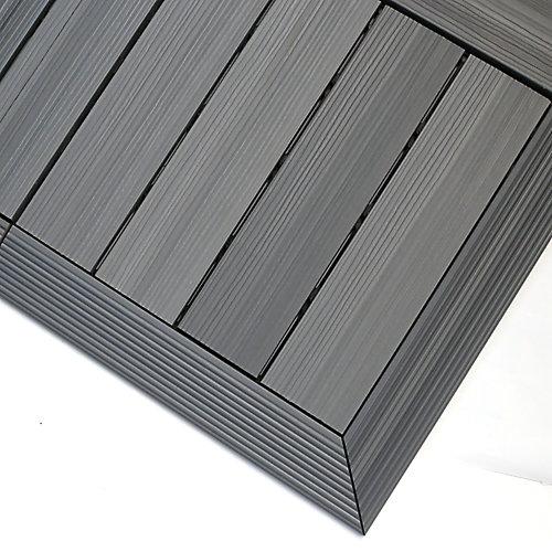 1/6pi x 1pi Carreau de terrasse en composite Quick Deck Moulure D'angle Extérieure en Gris Westminster (2pcs/boîte)
