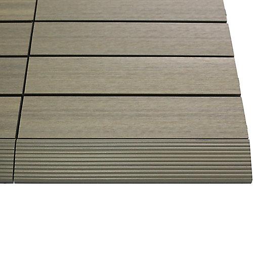 1/6pi x 1pi Carreau de terrasse en composite Quick Deck Moulure Droite en Antiquité Romaine (4pcs/boîte)