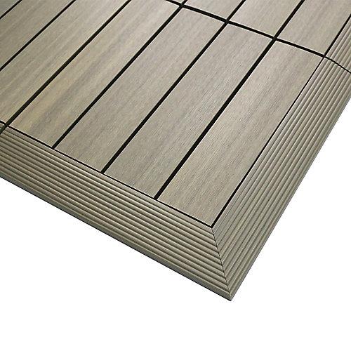 1/6pi x 1pi Carreau de terrasse en composite Quick Deck Moulure D'angle Extérieure en Antiquité Romaine (2pcs/boîte)