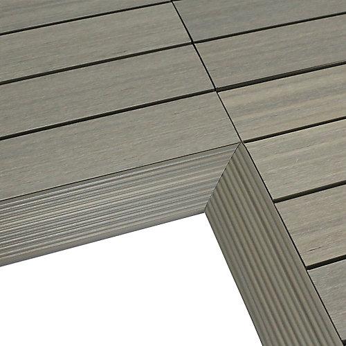 1/6pi x 1pi Carreau de terrasse en composite Quick Deck Moulure D'angle Intérieure en Antiquité Romaine (2pcs/boîte)