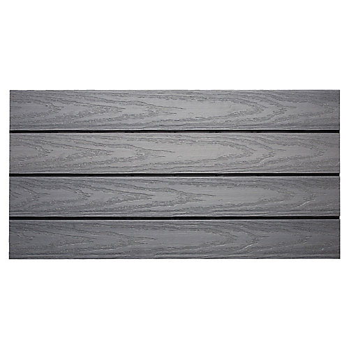 UltraShield Naturale 1 ft. x 2 ft. Quick Deck Composite Deck Tile in Westminster Gray (20 sq ft box)