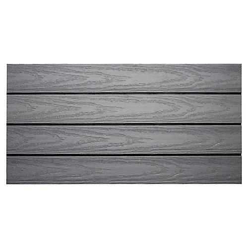 Carreau de terrasse Quick Deck en composite pour l'extérieur UltraShield Naturale 1pi x 2pi en Gris Westminster (20 pi2/boîte)