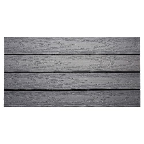 UltraShield Naturale 1 ft. x 2 ft. Quick Deck Composite Deck Tile in Westminster Gray (20 sq. ft./box)