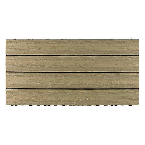 Carreau de terrasse Quick Deck en composite pour l'extérieur UltraShield Naturale 1pi x 2pi en Antiquité Romaine (20 pi2/boîte)
