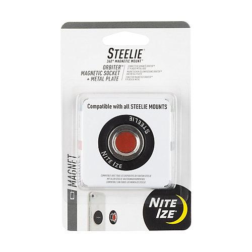 Steelie® Orbiter  Douille magnétique + plaque métallique