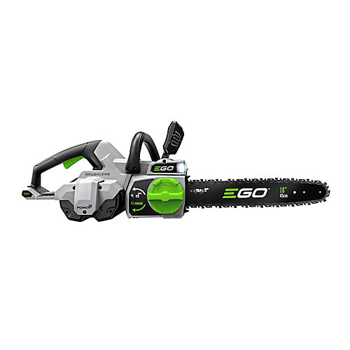 18 inch 56V Lithium-ion Cordless Electric Chainsaw Kit with New 5.0 Ah Battery, 210W charger