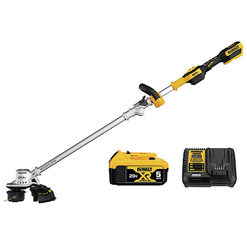 20V MAX Cordless 14-inch Dual Line String Trimmer (w/ 5.0Ah Battery & Charger)
