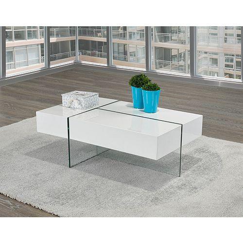 Table basse, blanc