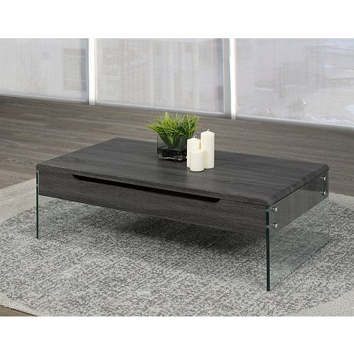 Coffee Table with Lift Top & Storage, Grey
