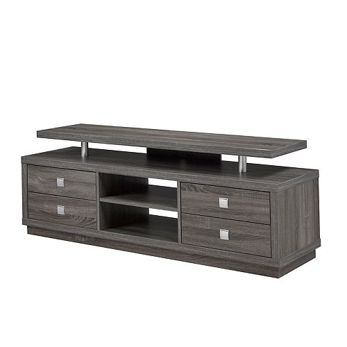 66' TV Stand with Storage, Grey