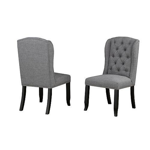 Chaise d'appoint Memphis, ensemble 2 pièces, gris