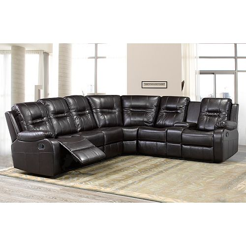 Napolean Dual Recliner Sectional, Chocolate