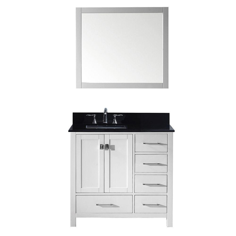 Virtu USA Caroline Avenue 36-inch Single Vanity in White ...