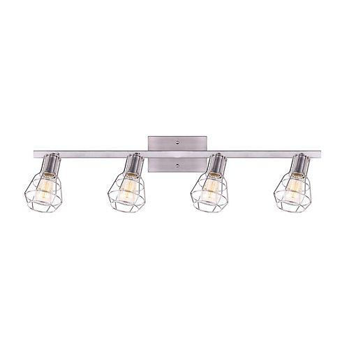Canarm Wren rail d'éclairage nickel brossé à quatre lumières