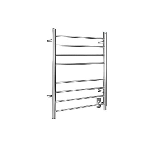 Prestige Dual 8-Bar Hardwired and Plug-in Towel Warmer in Polished Stainless Steel