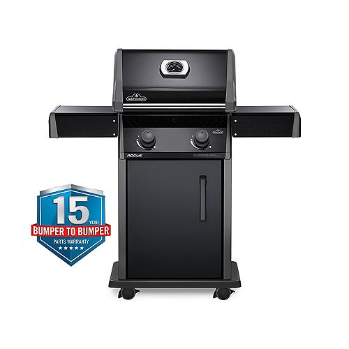 Rogue 365 2-Burner Propane Gas BBQ in Black