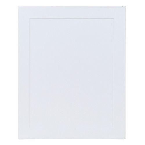 Edson 24 pouces W x 30 pouces H x 12,5 pouces D Shaker Style Assemblé Armoire murale de cuisine / Armoire en blanc massif avec tablettes réglables (W2430L)