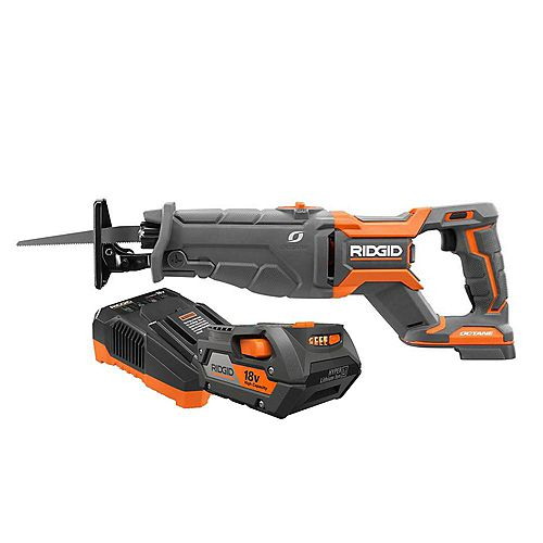 18V OCTANE Cordless Brushless Reciprocating Saw with Blade, 4.0 Ah Lithium-Ion Battery, and Charger