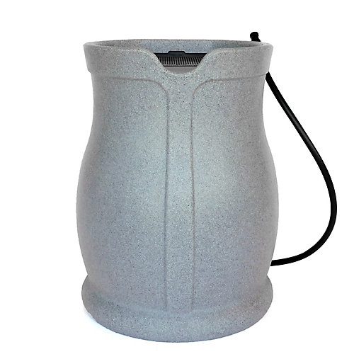 Cataline 170 L Rain Barrel, Light Granite