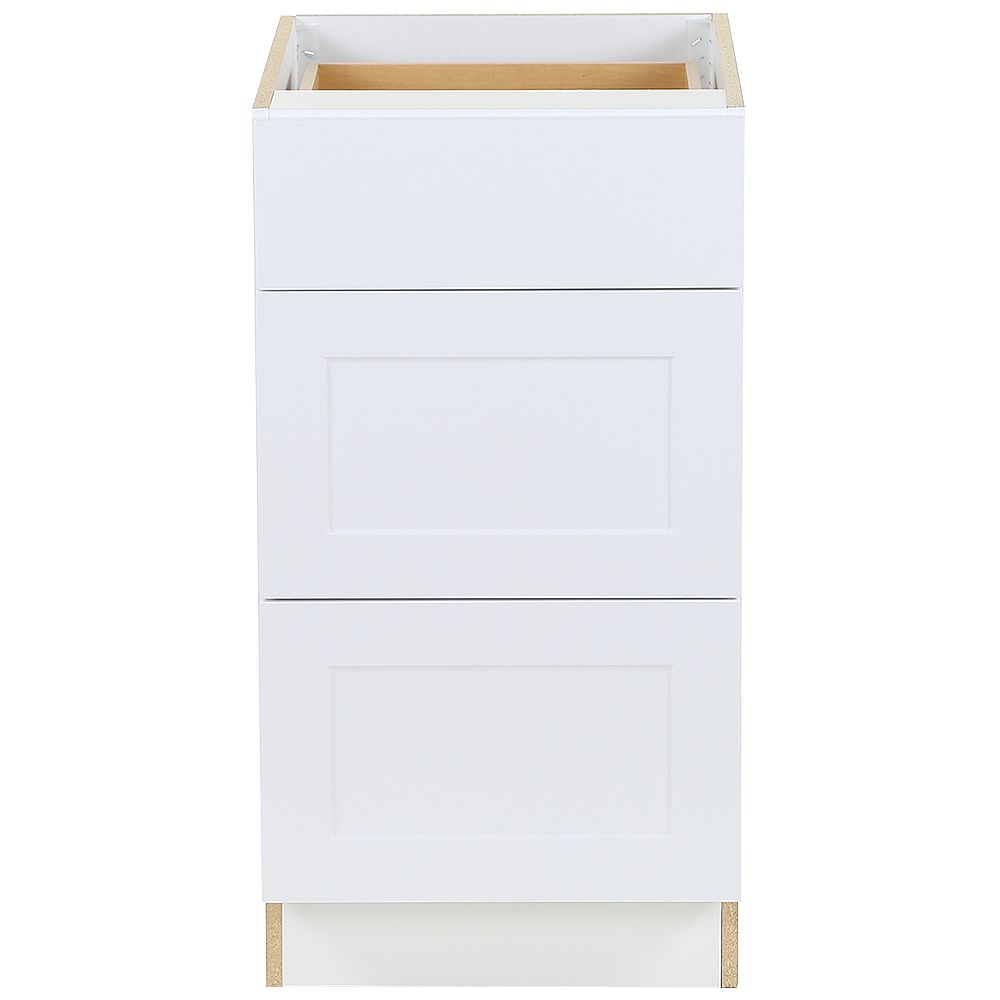 Edson 20 inch W x 20.20 inch H x 20.20 inch D Shaker Style Assembled Kitchen  Base Cabinet/Cupboard in Solid White with 20 Soft Close Drawers BD2020V