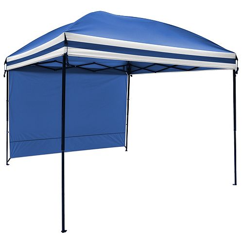 9 ft. X 9 ft. Gazebo with Sunwall in Blue