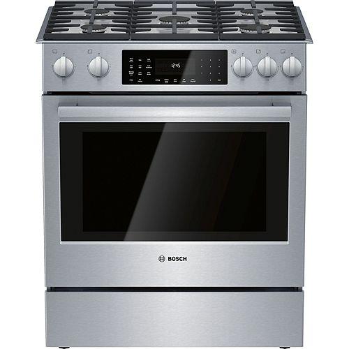 Série 800, cuisinière insérée bi-énergie