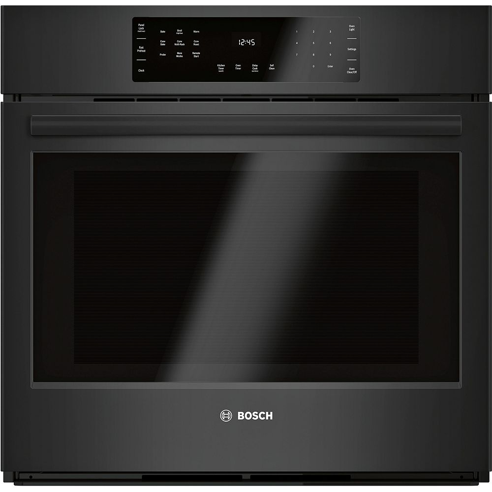 """Bosch 800 Series, 30"""", Single Wall Oven, Black, Home Connect"""