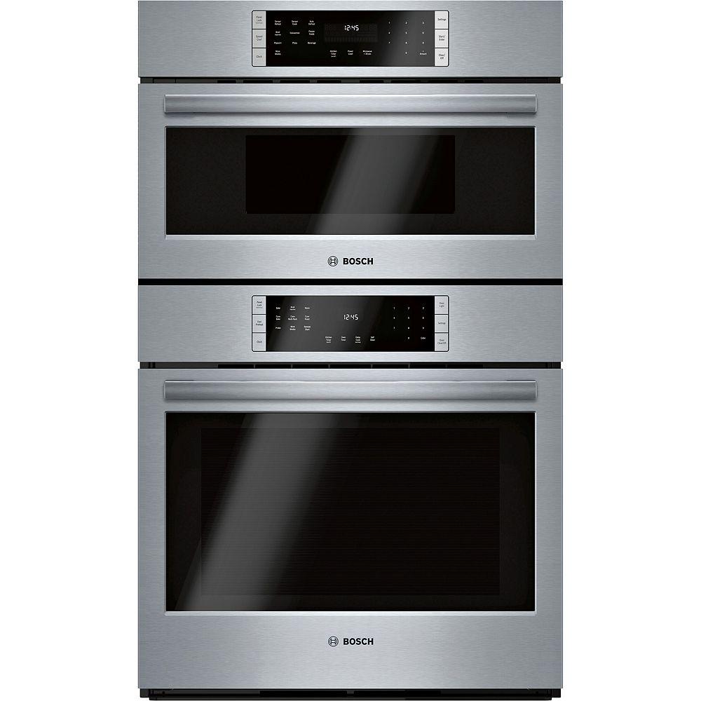 Bosch Série 800, combinaison four à cuisson rapide 30 po, A/I