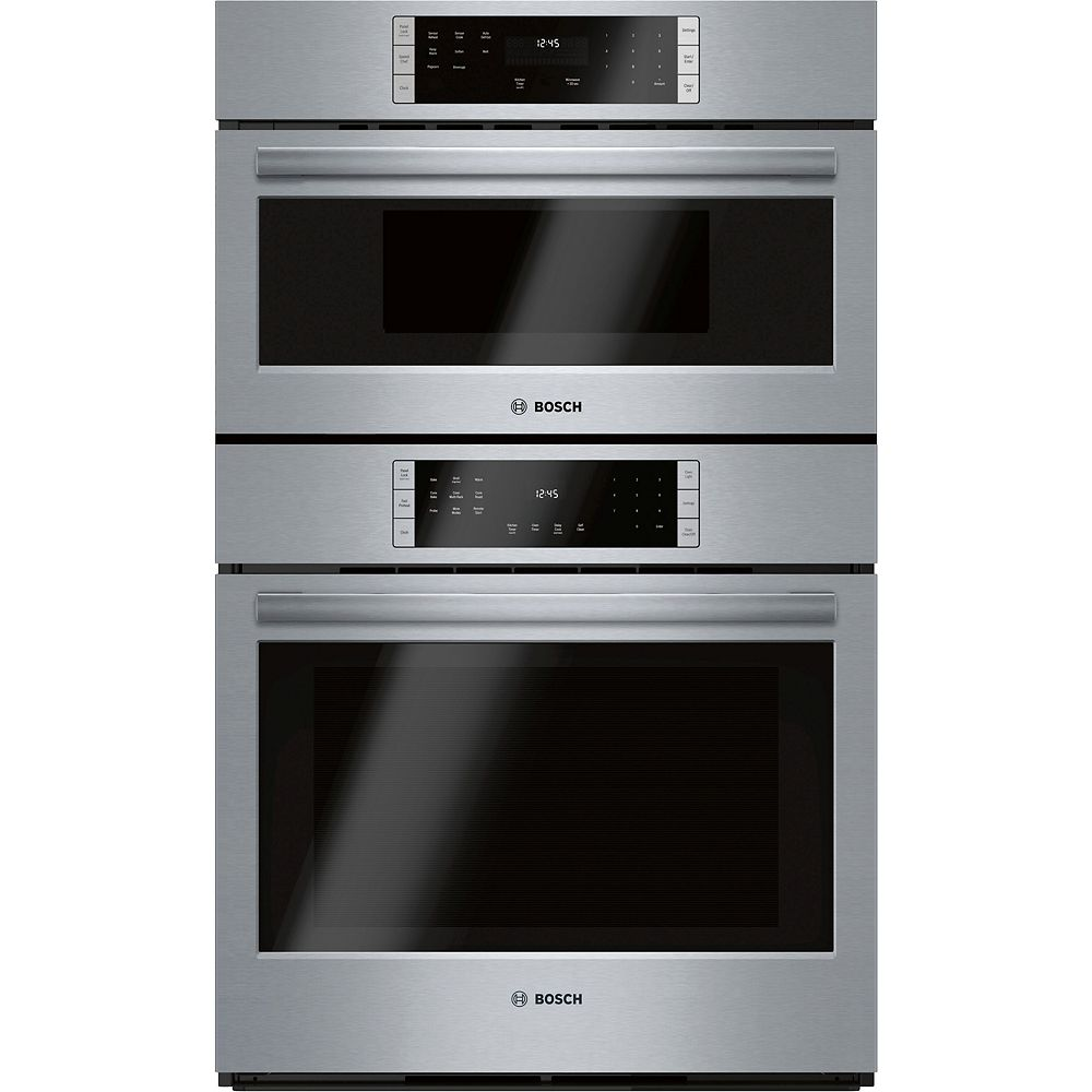 Bosch 800 Series 30-Inch Smart Built-In Microwave Combination Oven with Home Connect
