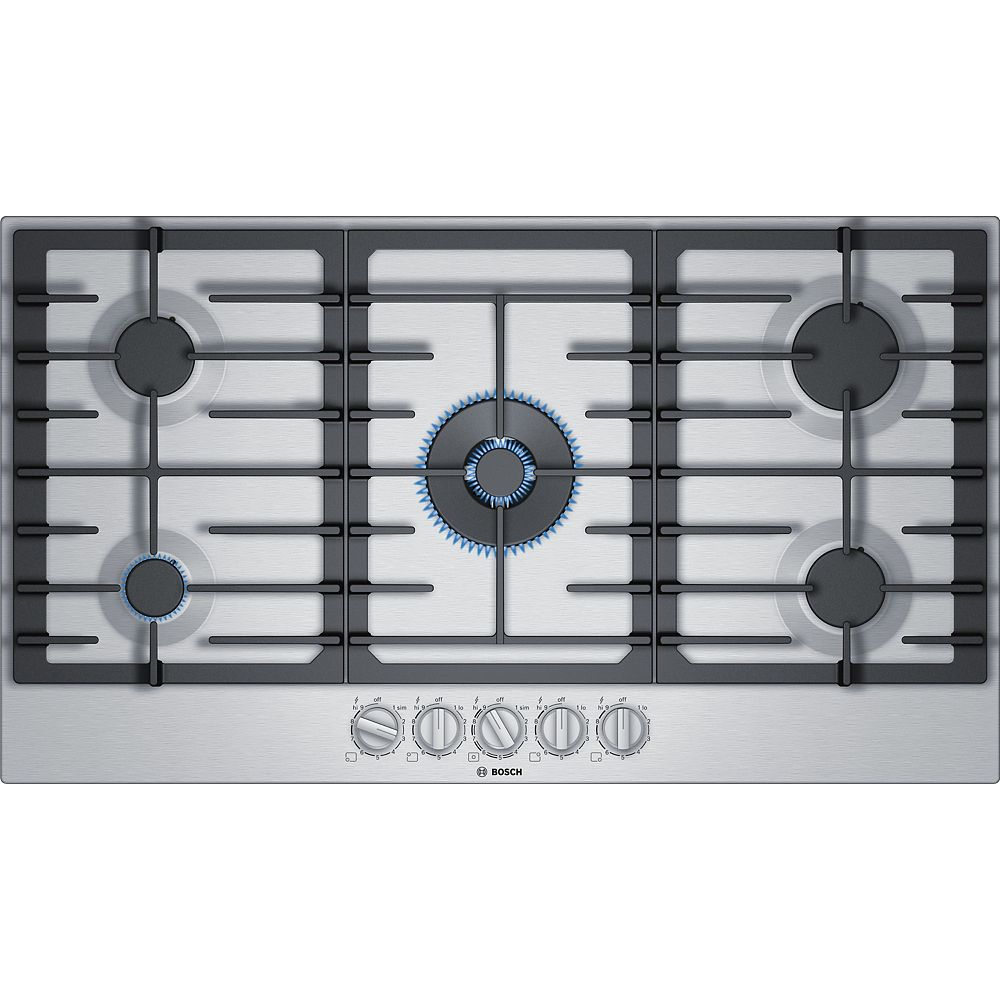 Bosch Bosch 800 Series 36-Inch Gas Cooktop with 5 Burners and FlameSelect