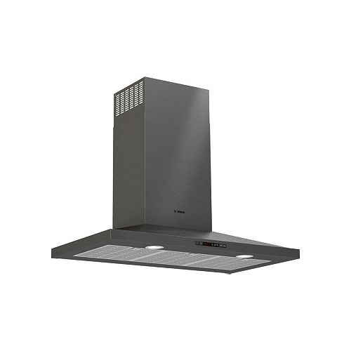"Bosch 800 Series, 36"" Pyramid Chimney, 600 CFM, Black Stainless"