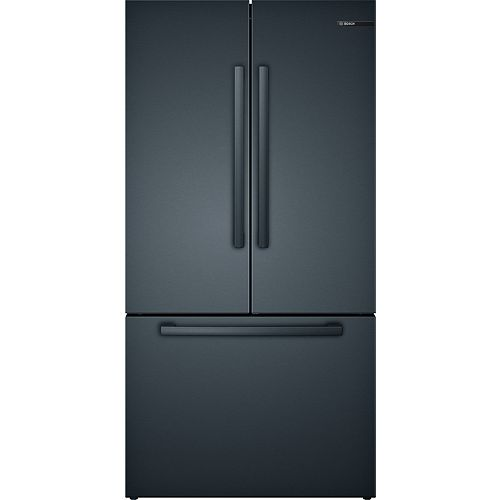 800 Series 36-inch 20.5 cu.ft. Smart Counter-Depth French Door Refrigerator with Home Connect in Black Stainless Steel - ENERGY STAR®