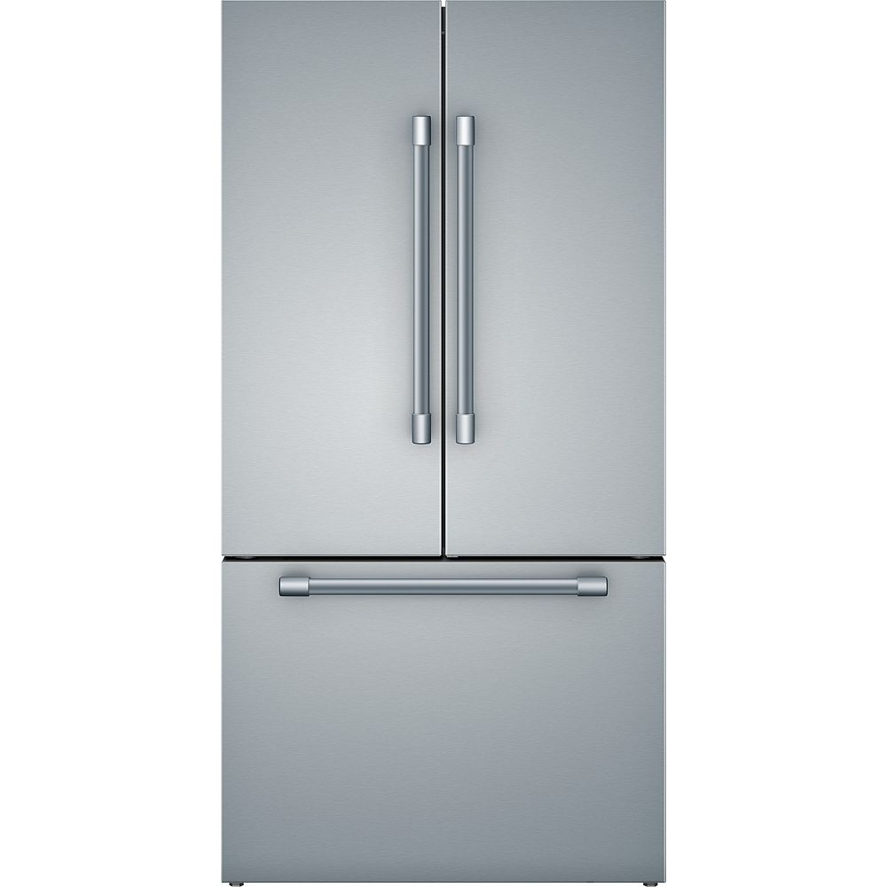 Bosch 800 Series 36-inch 20.5 cu.ft. Smart Counter-Depth French Door Refrigerator with Home Connect in Stainless Steel - ENERGY STAR®