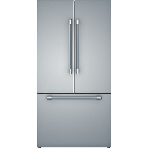 800 Series 36-inch 20.5 cu.ft. Smart Counter-Depth French Door Refrigerator with Home Connect in Stainless Steel - ENERGY STAR®