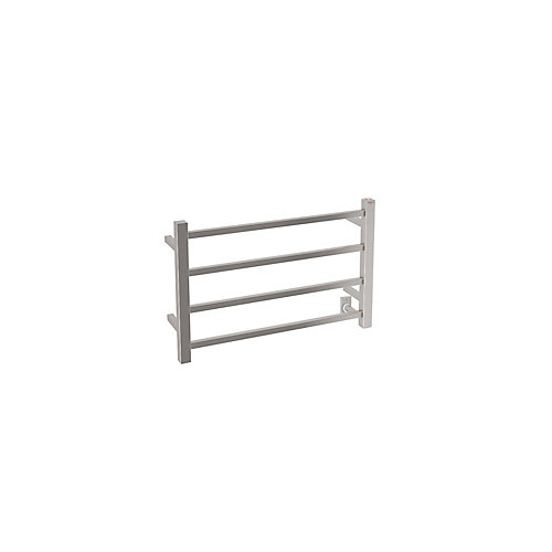 Gala Dual 4-Bar Hardwired and Plug-in Towel Warmer in Brushed Stainless Steel