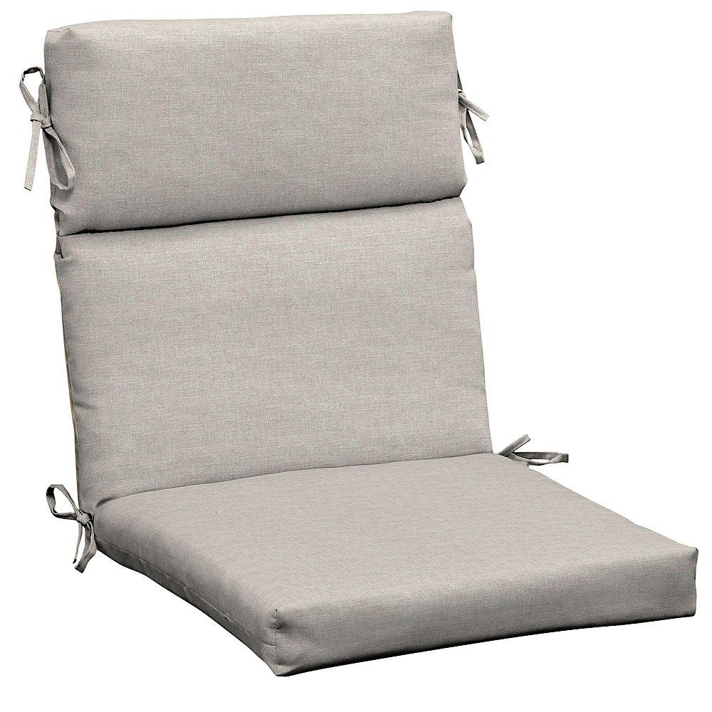 Hampton Bay CushionGuard Biscuit High Back  Dining Chair Cushion
